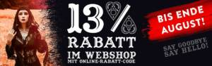Noch bis August - Webshop Rabatt sichern